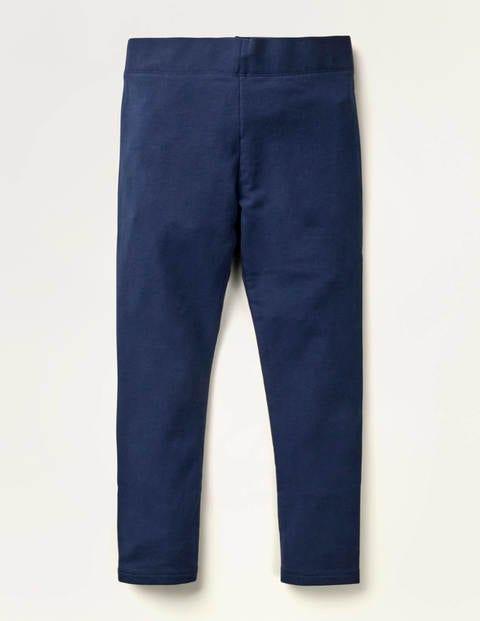 Plain Cosy Leggings - Navy