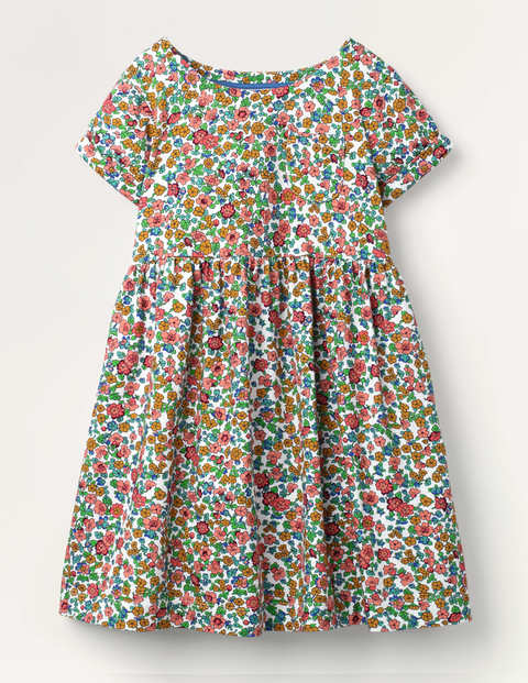 Fun Jersey Dress - Multi Vintage Floral