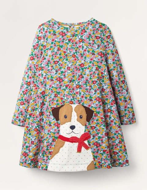 Big Appliqué Jersey Dress