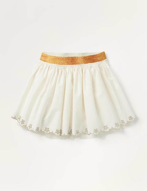 Tulle Embroidered Skirt - Ivory