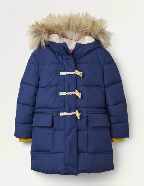 Longline Padded Jacket - College Navy