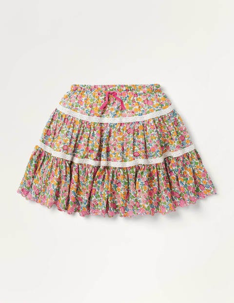 Lace Woven Twirly Skirt