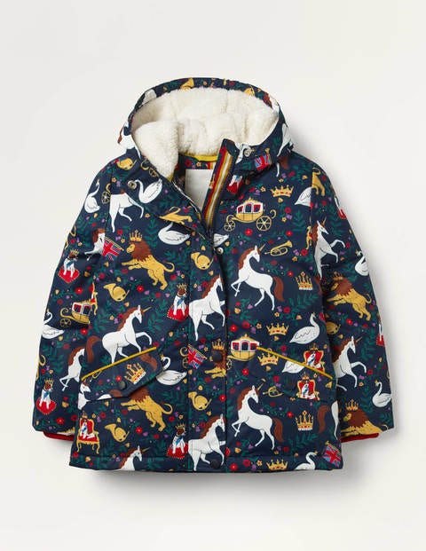 Sherpa-lined Anorak - College Navy British Toile