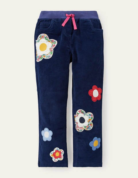 Flower Appliqué Trousers