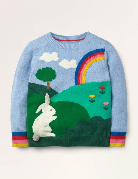 Bunny Scene Jumper - Frosted Blue Bunny