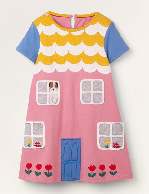 House Appliqué Dress