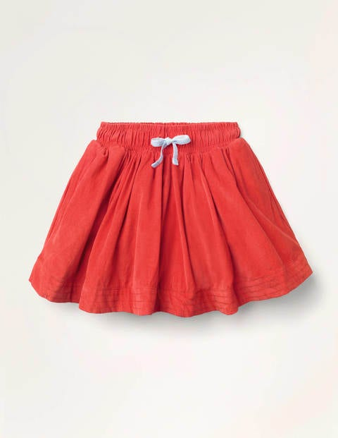 Woven Twirly Skirt - Rockabilly Red