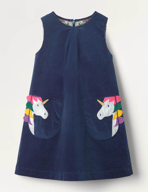 Appliqué Pocket Cord Pinafore