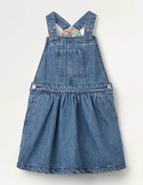 Woven Overall Dress - Chambray