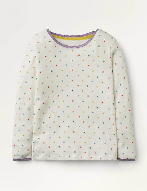 Supersoft Pointelle T-shirt - Ivory Multi Little Star