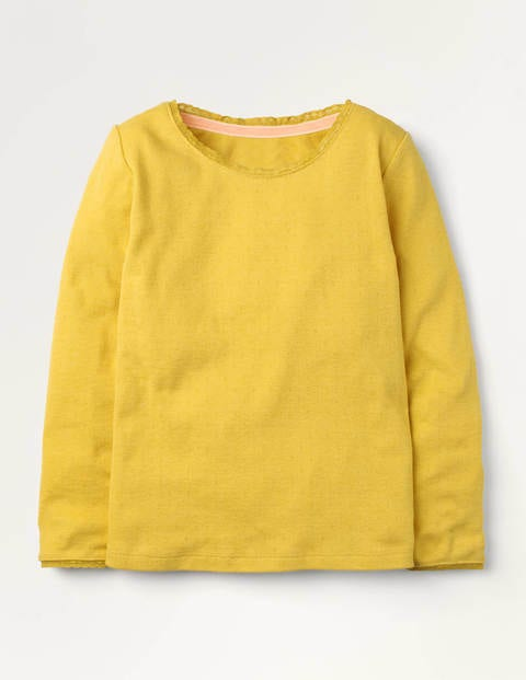 Supersoft Pointelle T-shirt - Honeycomb Yellow