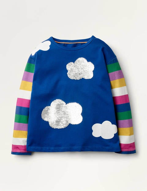Sequin Hotchpotch T-shirt - Blue Hotchpotch Clouds