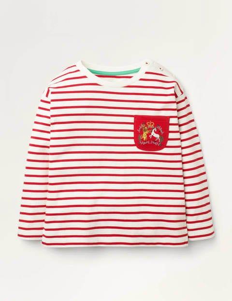 Heraldic Pocket Breton - Ivory/Rockabilly Red
