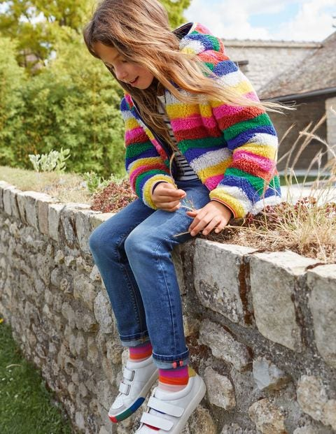 Cosy Reversible Fleece Hoodie - Multi Stripe
