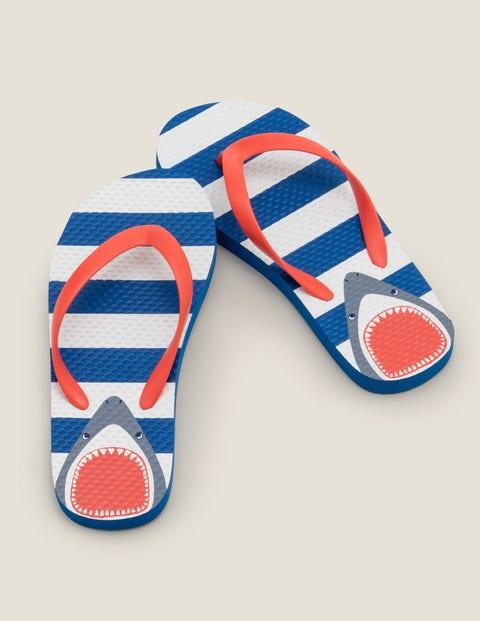 Printed Flip Flops - Bold Blue Shark