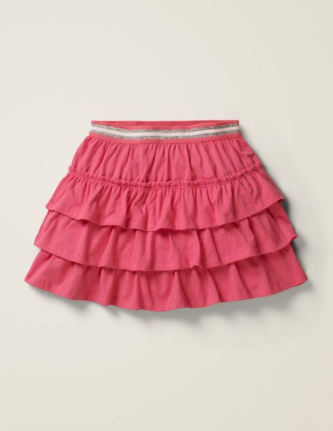 Jersey Ruffle Skort - Bright Camellia Pink