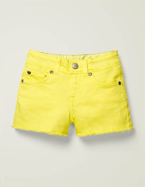 Denim Shorts - Lemon Zest Yellow