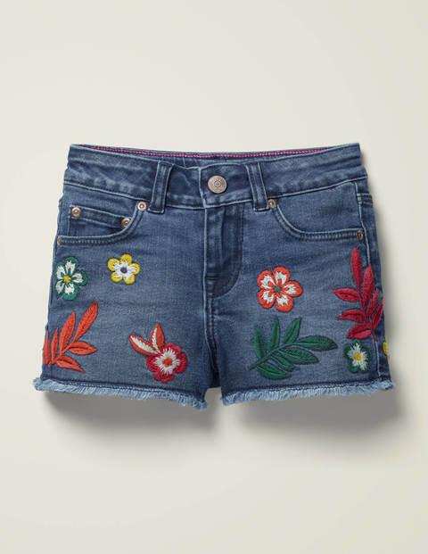 Denim Shorts - Mid Vintage Denim Floral