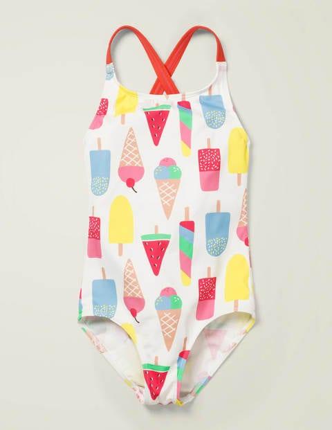 Cross-back Swimsuit - Multi Ice Creams