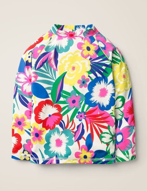 Long-sleeved Rash Vest - Multi Tropical Bloom