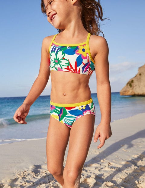 Patterned Bikini Top - Multi Tropical Bloom