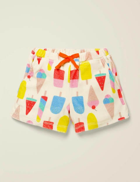 Towelling Shorts - Multi Ice Creams