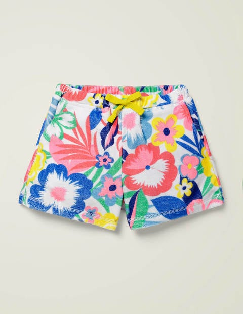 Towelling Shorts - Multi Tropical Bloom