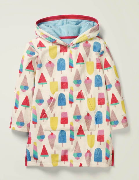 Fun Towelling Beach Dress - Multi Ice Creams