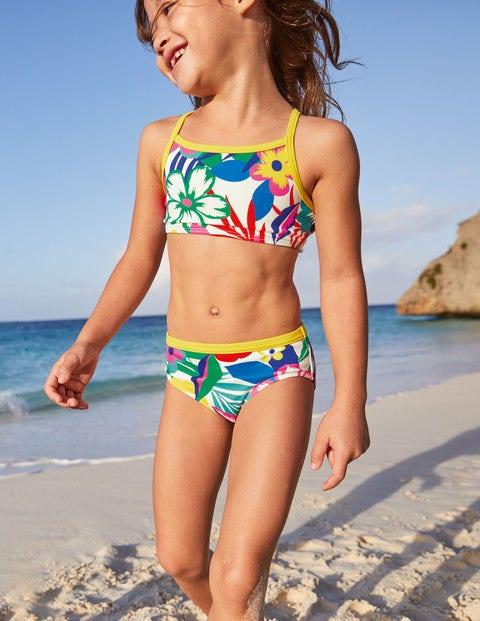 Patterned Bikini Bottoms - Multi Tropical Bloom