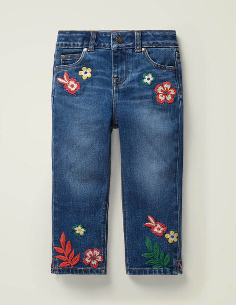 Embroidered Capri Trousers - Mid Vintage Floral