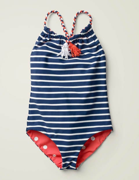 Reversible Swimsuit - Deep Sea Blue/ Spot