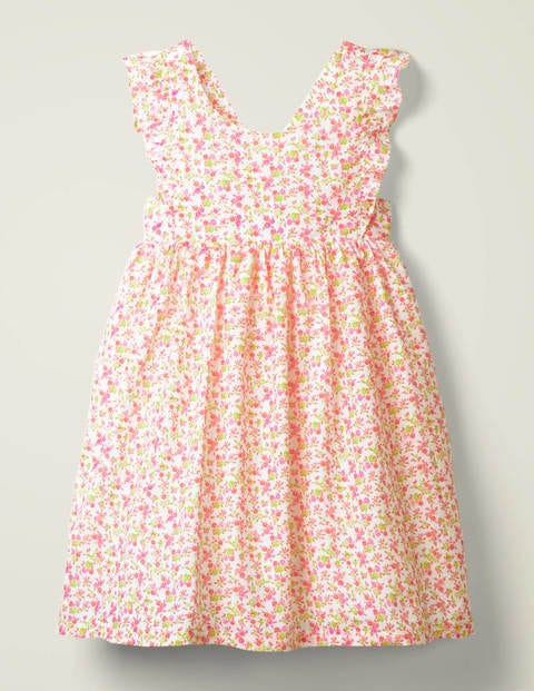 Strappy Woven Printed Dress - Festival Pink Vintage Floral
