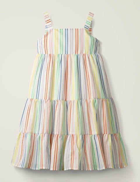 Tiered Stripe Summer Dress