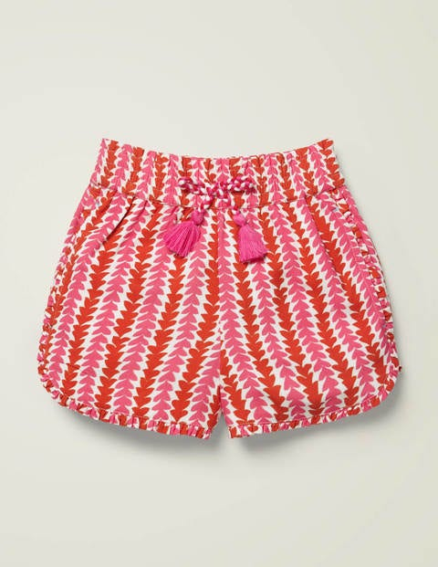 Frill Detail Shorts - Camelia Pink Petal Arrow