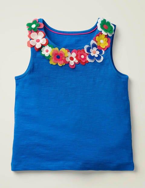 Flutter Flower Vest - Bold Blue