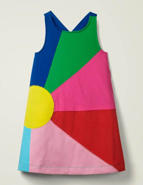 Appliqué Jersey Dress - Multi Sun