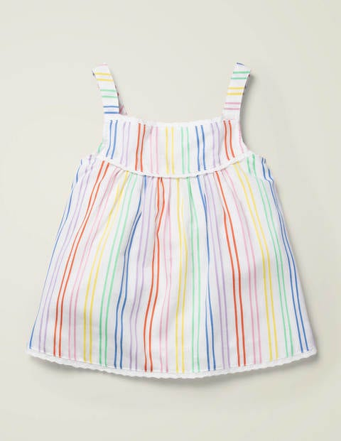 Rainbow Stripe Woven Top