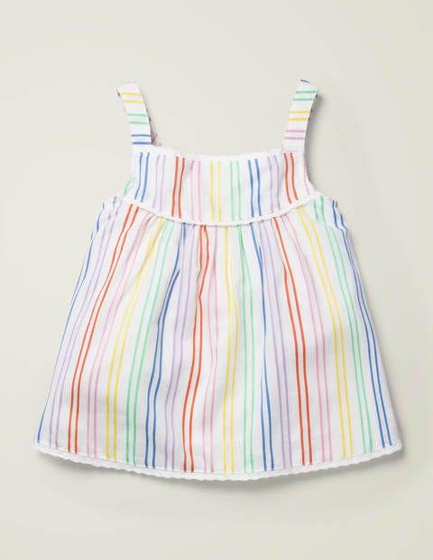 Rainbow Stripe Woven Top - Multi Stripe