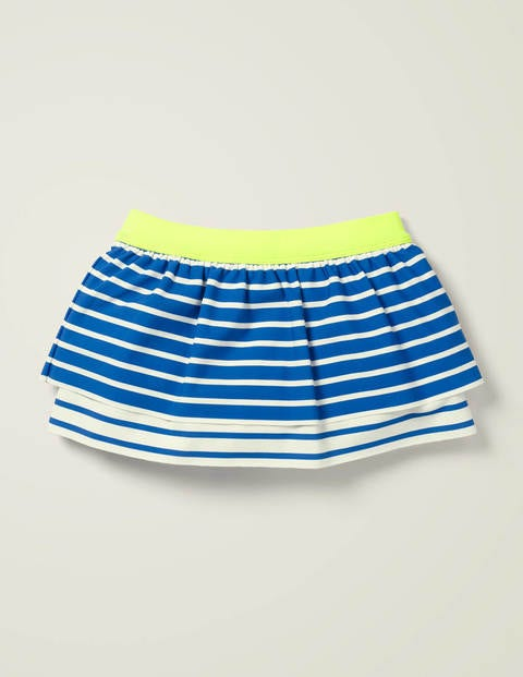 Patterned Swim Skirt - Bold Blue /Ivory