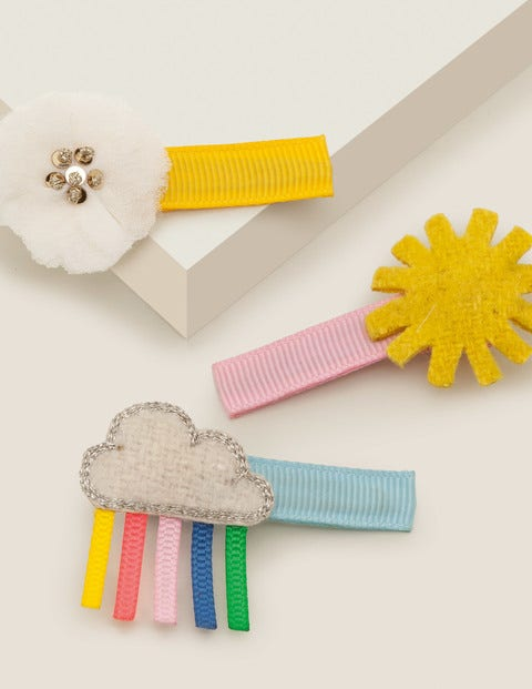 3 Pack Hair Clips - Sunshine