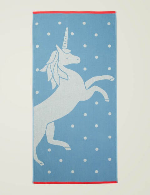 Beach Towel - Celeste Blue Unicorn