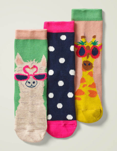 3 Pack Socks - Multi Animals