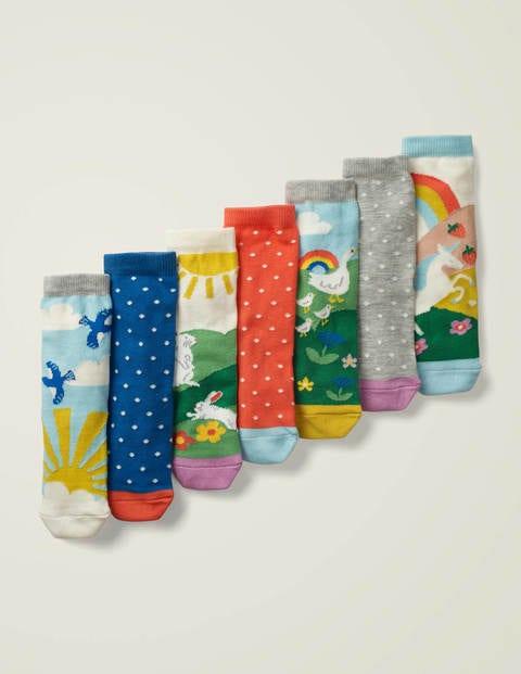 7 Pack Sock Box - Multi Scenes