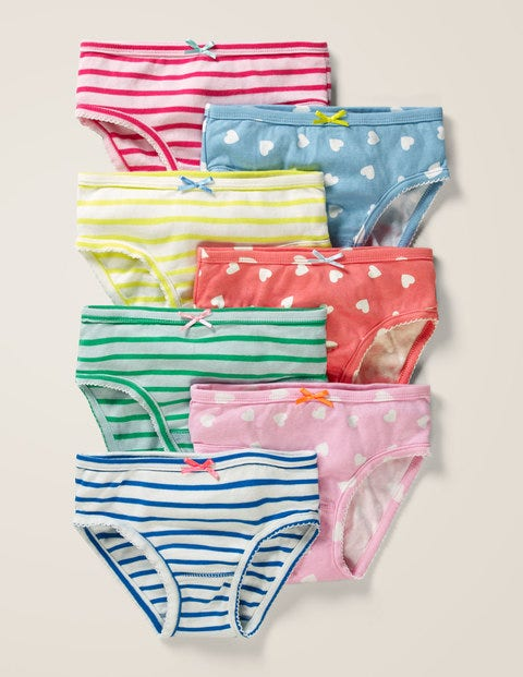 7 Pack Underwear - Scattered Heart