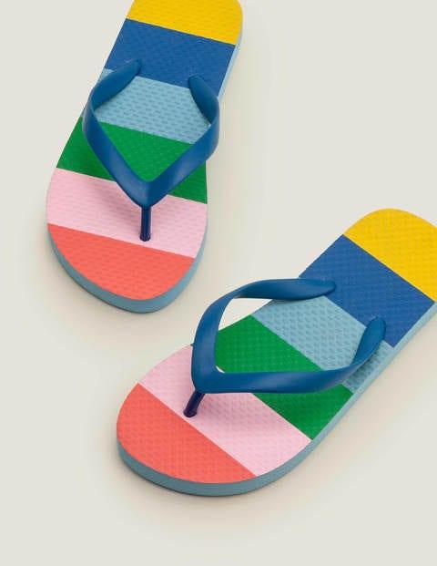 Printed Flip Flops - Multi Rainbow