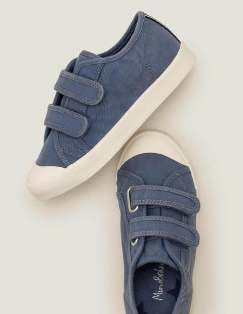 Chaussures en toile à double bride - Bleu embrun