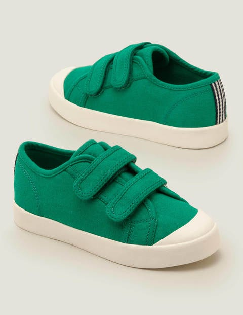 Double Strap Canvas Shoes - Alpine Green