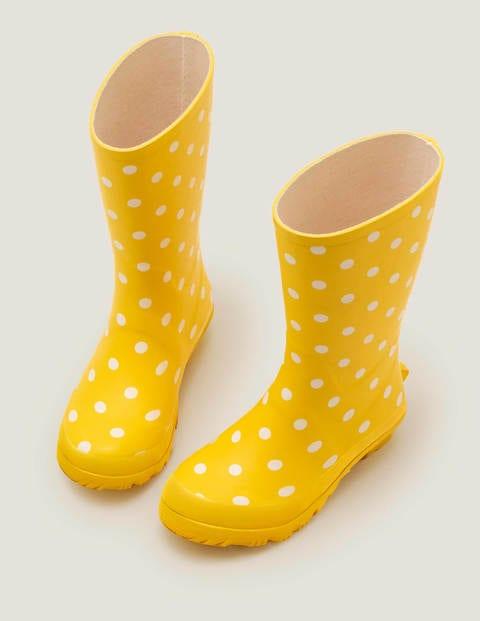 Bottes de pluie - Pois jaune jonquille