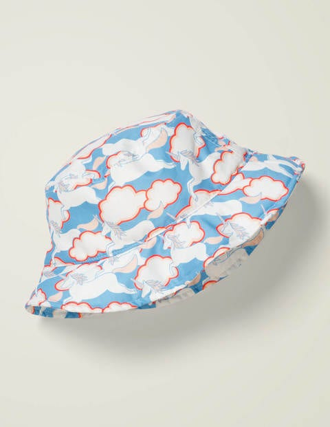 Printed Bucket Hat - Cloudy Blue Unicorn Sky