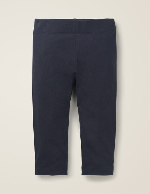 Plain Cropped Leggings - Navy